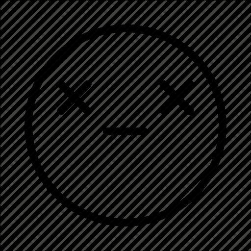 Dead, Emoji, Emoticon, Face, Portrait Icon