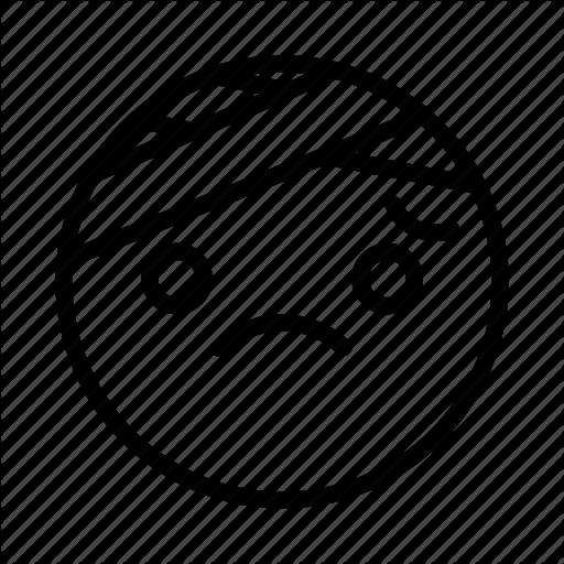 Emoji, Emoticon, Face, Ill, Portrait, Sad Icon