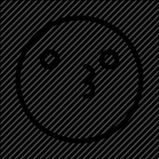 Emoji, Emoticon, Face, Kiss, Portrait, Smile Icon
