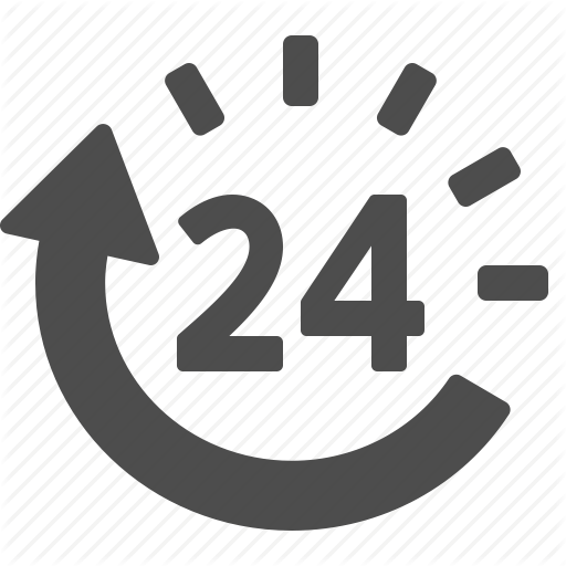 Around The Clock, Clock, Customer Support, Logistics Icon