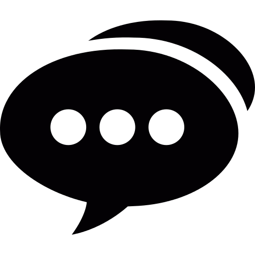 Speech Bubble With Three Dots Png Icon