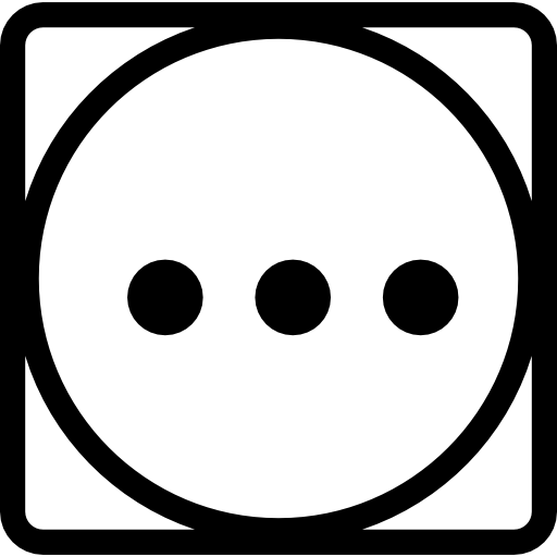 Washing Symbol Of Three Dots In A Circle Inside A Square Icons