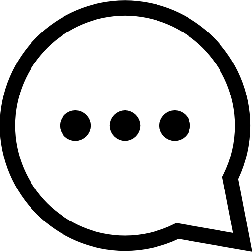 Circular Speech Bubble With Three Dots Inside