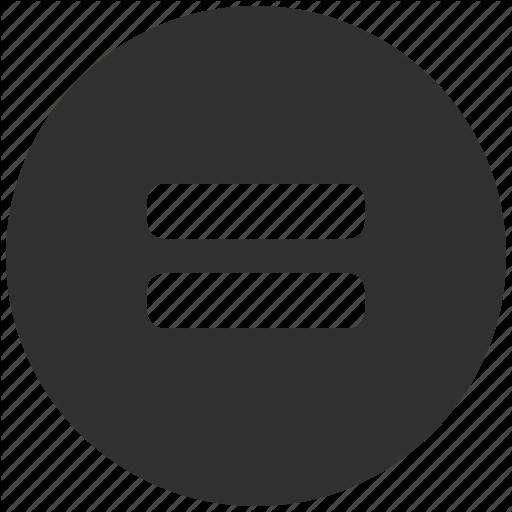 Hamburger, Lines, Menu, Round Icon