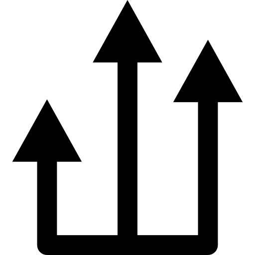 Three Ascending Arrows From One Line Icons Free Download