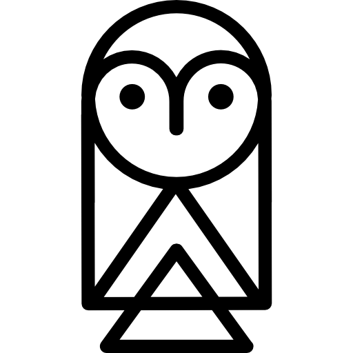 Owl Front View Flat Icon