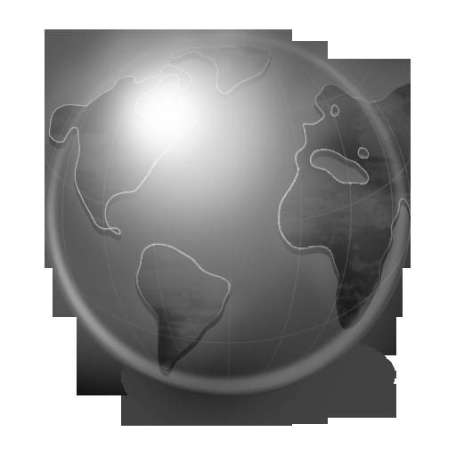 Grey Globe Icon