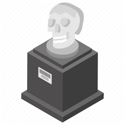 Art, Gallery, Heritage, Historical, Museum, Skull, Skull Display Icon