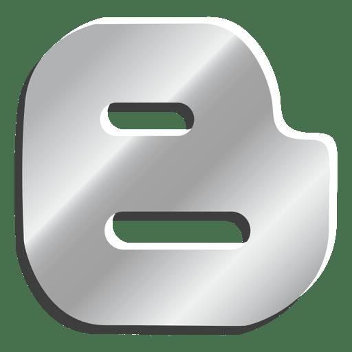 Blogger Silver Icon