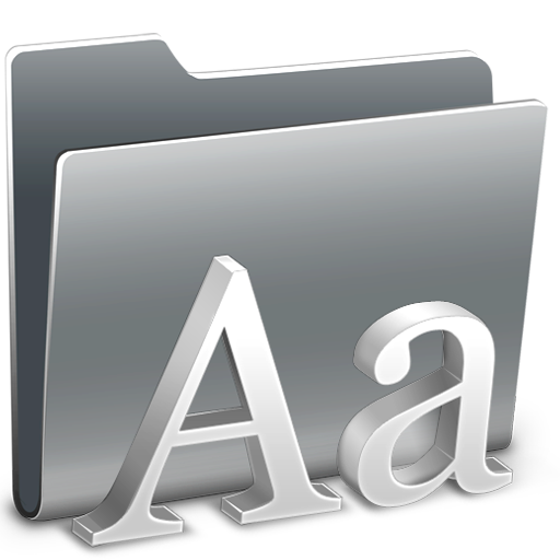 Fonts, Folder Icon Free Of Hyperion Icons