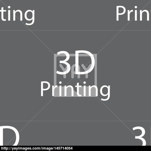 Print Sign Icon Printing Symbol Seamless Pattern On A Gray