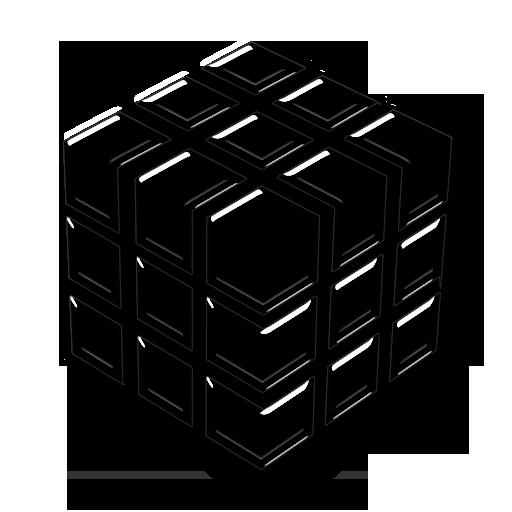 Transparent Glass Icon Symbols Shapes Cube