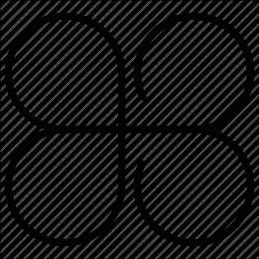 Flower, Four Leaf Clover Icon