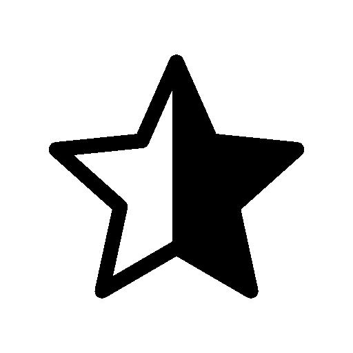 Half Star Symbol