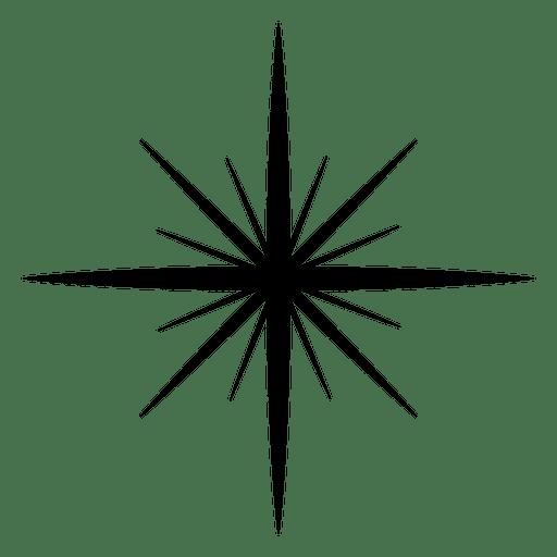 Star Explosion Silhouette Icon