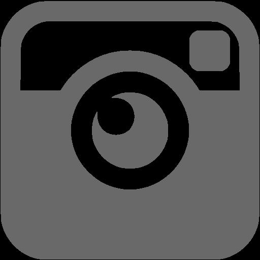Dim Gray Instagram Icon