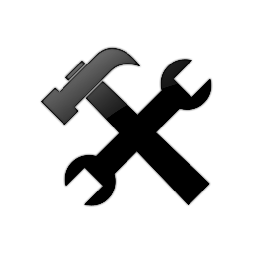 Hammer And Wrench Web Tool Icon Png