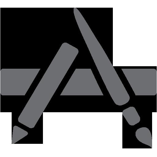 App, Application, Applications, Grey Icon