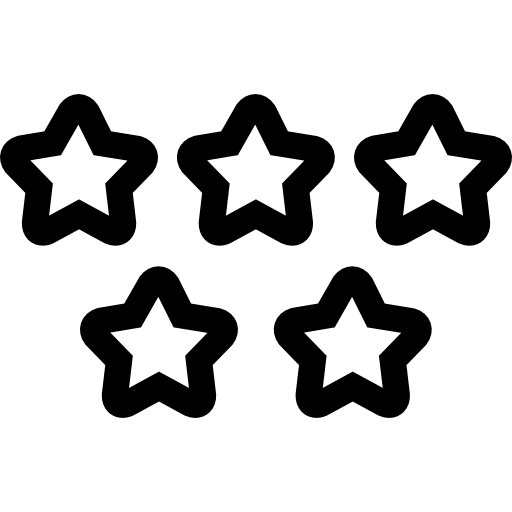 Five Stars Quality Symbol Icons Free Download