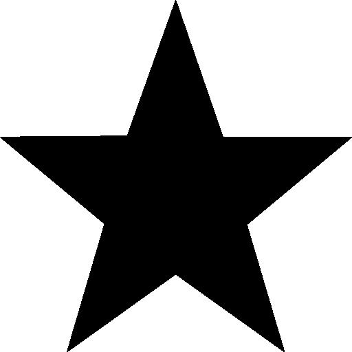 Star Favorite Black Symbol Icons Free Download