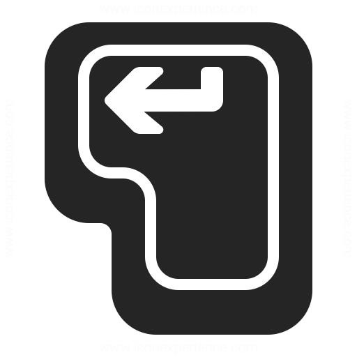 Keyboard Key Enter Icon Iconexperience