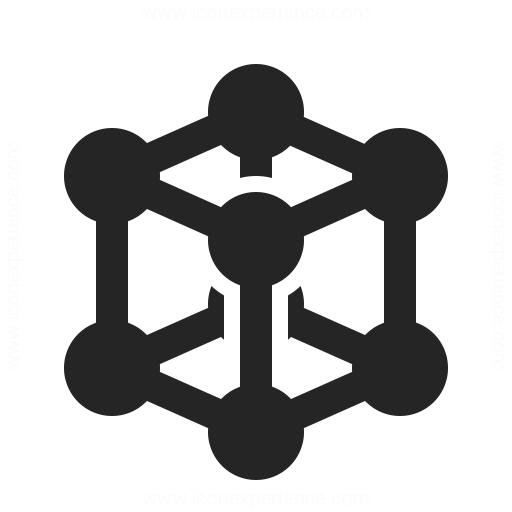 Cube Molecule Icon Iconexperience