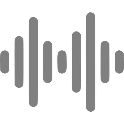 Gray Audio Wave Icon