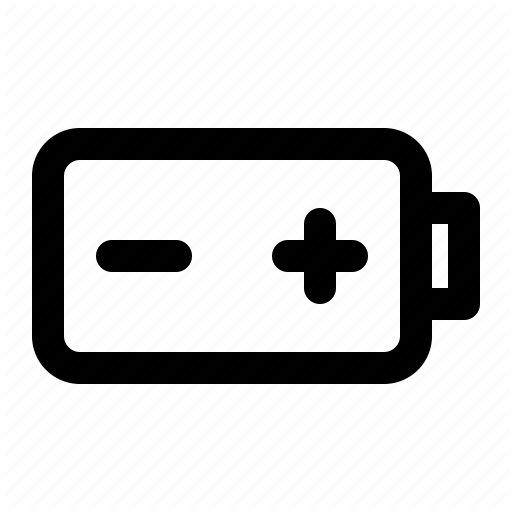 Aa, Aaa, Battery, Minus, Plus, Smartphone Icon