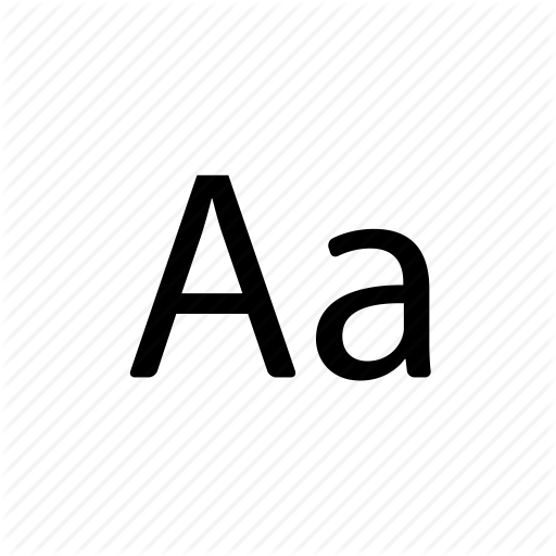 Aa, Alphabet, Creative, Design, Font, Grid Icon