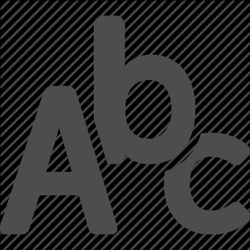 Abc, Alphabet, Letters, Spelling Icon