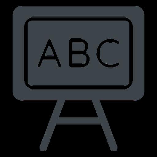 Abc Chalkboard Flat Icon