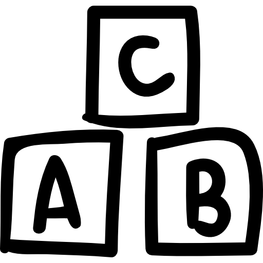 Abc Hand Drawn Toy Cubes