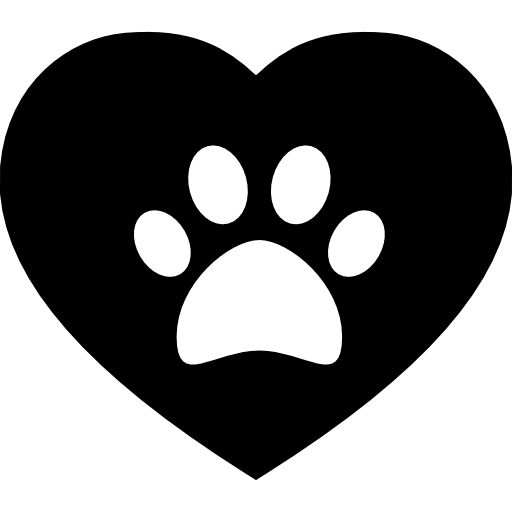 Dog Pawprint On A Heart Free Vector Icons Designed
