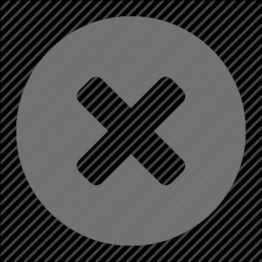 Abort, Cancel, Close, Cross, Delete, Error, Remove Icon