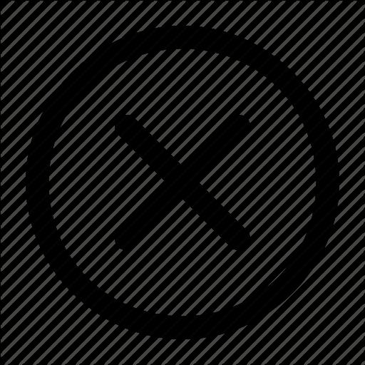 Abort, Cancel, Close, Line Style Icon
