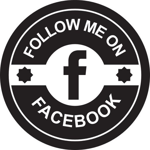Facebook Social Retro Circular Badge Png Icon