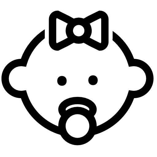 Pacifier Baby Girl Icons