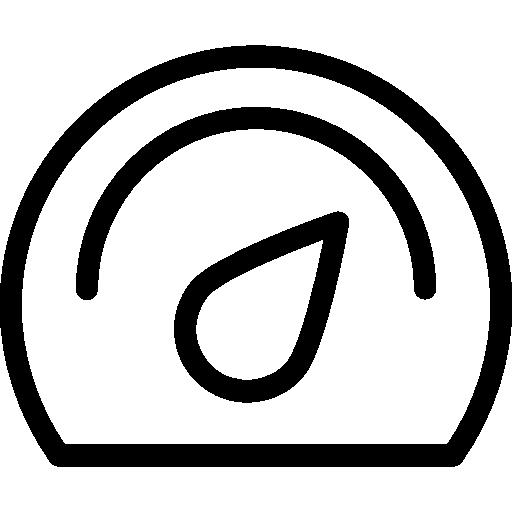 Dashboard Flat Black Icon
