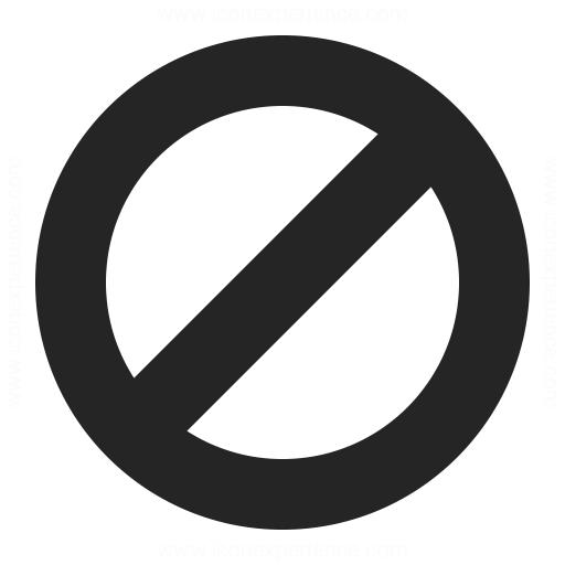 Sign Forbidden Icon Iconexperience