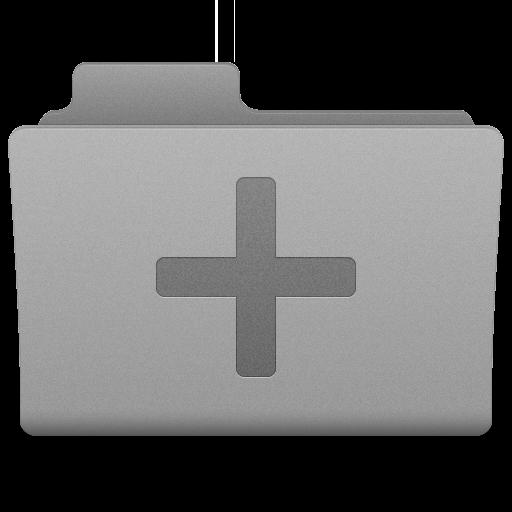 Grey Add Folder Icon