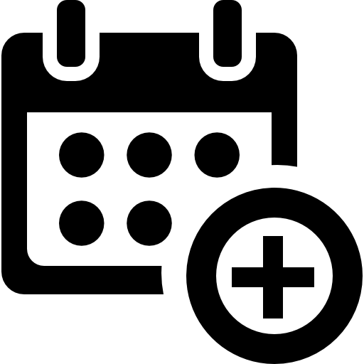 Add Calendar Symbol For Events Icons Free Download