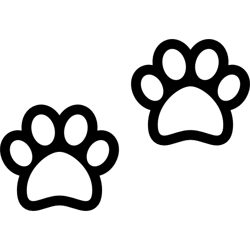 Two Dog Pawprints Free Vector Icons Designed