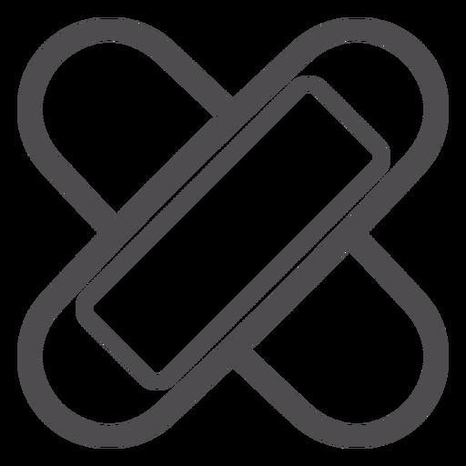 Adhesive Bandage Stroke Icon