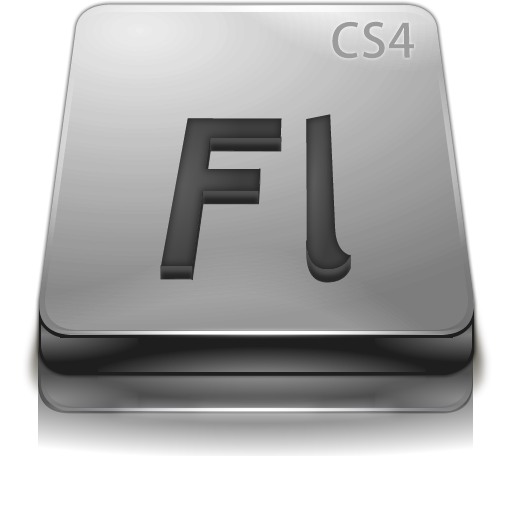 Adobe Flash Cs Gray Icons, Free Adobe Flash Cs Gray Icon
