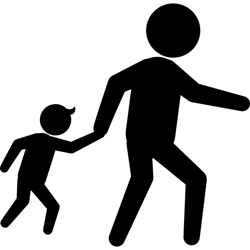 Criminals Silhouettes Of An Adult With A Child
