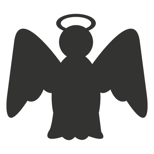 Angel Icon Silhouette