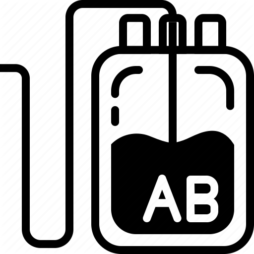 Ab, Bag, Blood, Donation, Medical, Type Icon