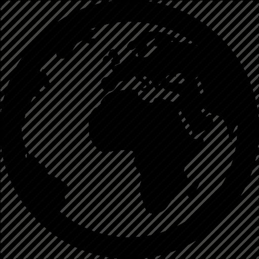 Africa, Global, Globe, Map, World Icon