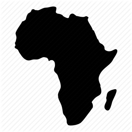 Africa, Continent, Geography, Map, Maps Of Africa Icon