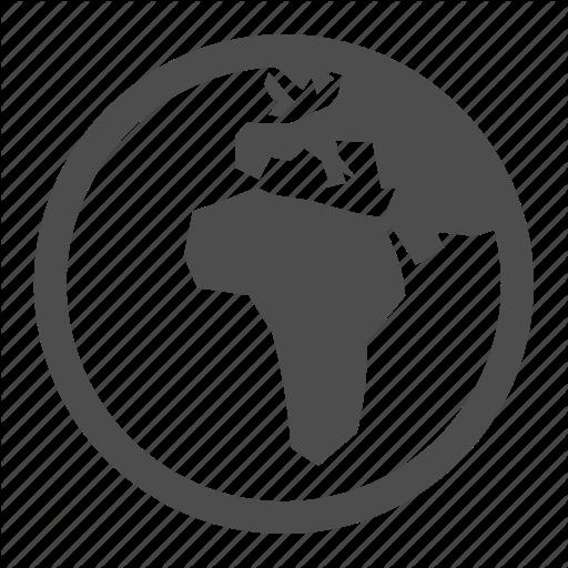 Africa, Earth, Europe, Global, Globe, International, Planet Icon
